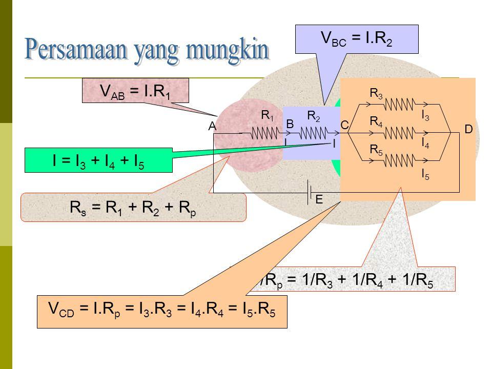 Rangkaian hambatan kombinasi  Untuk menyelesaikan persoalan rangkaian kombinasi dapat menggunakan rumus rangkaian seri dan paralel.