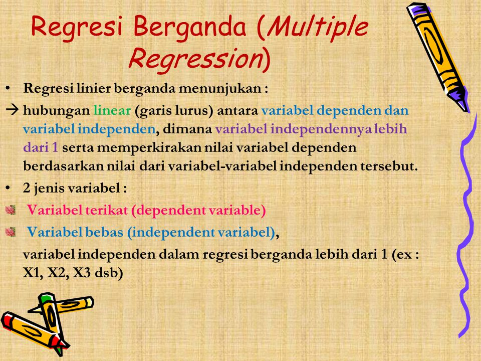 PERTANYAAN 1.Determine regression equation for Karina's Catering Company, then interpret it.