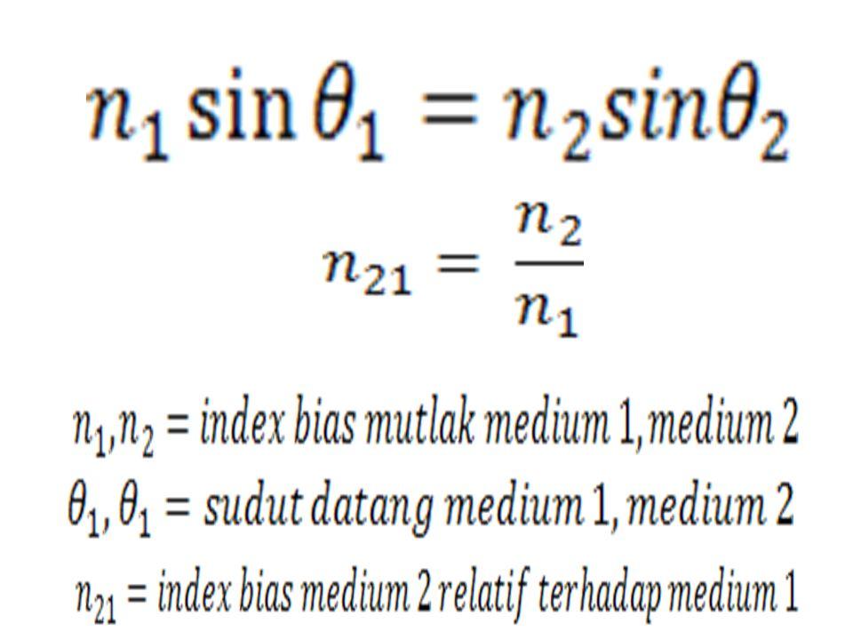 Kuat Lensa P = kuat lensa (dioptri) f = jarak fokus (m) P = kuat lensa (dioptri) f = jarak fokus (cm)