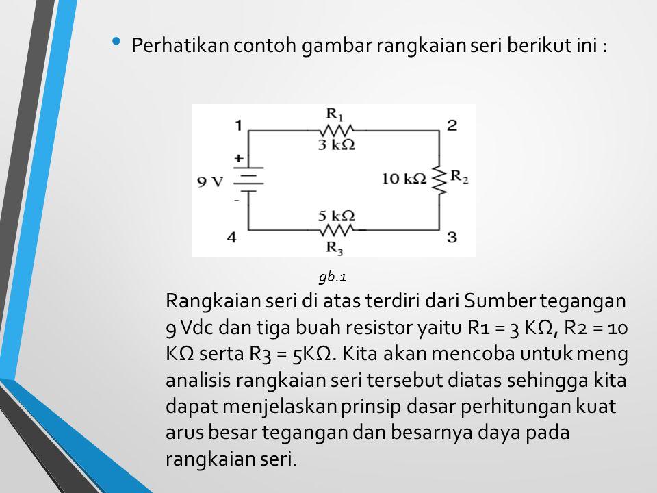 Prinsip dalam rangkaian pararel :  Besarnya kuat arus yang melalui setiap komponen berbeda beda.