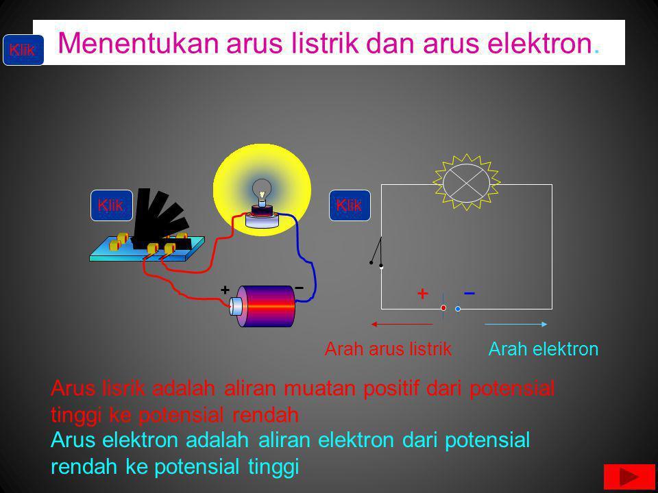 Menentukan arus listrik dan arus elektron.