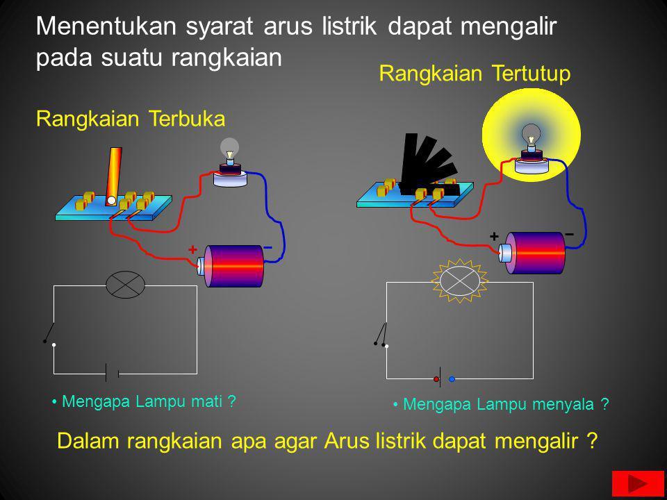 Menentukan syarat arus listrik dapat mengalir pada suatu rangkaian Mengapa Lampu mati .