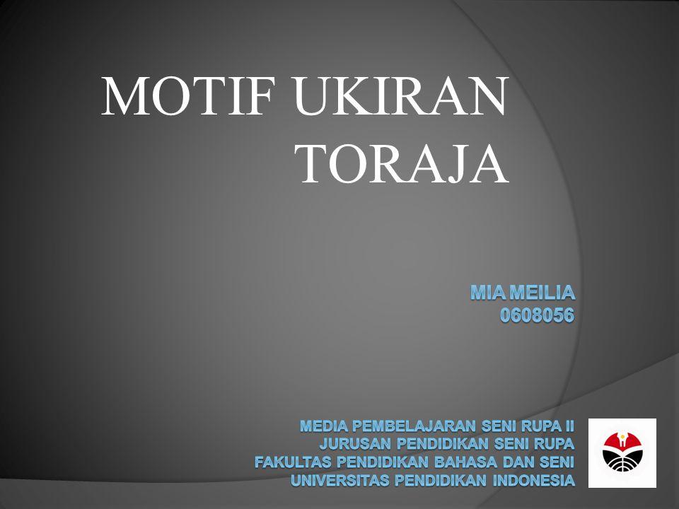 MOTIF UKIRAN TORAJA