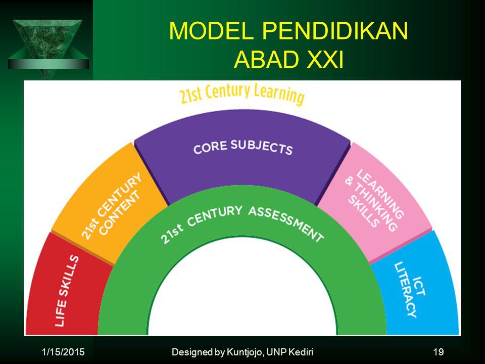 MODEL PENDIDIKAN ABAD XXI 1/15/2015Designed by Kuntjojo, UNP Kediri19