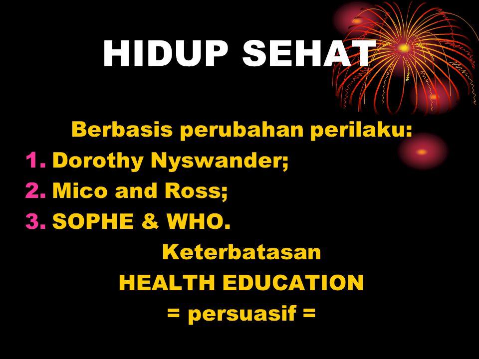 HIDUP SEHAT H.Education -> H.