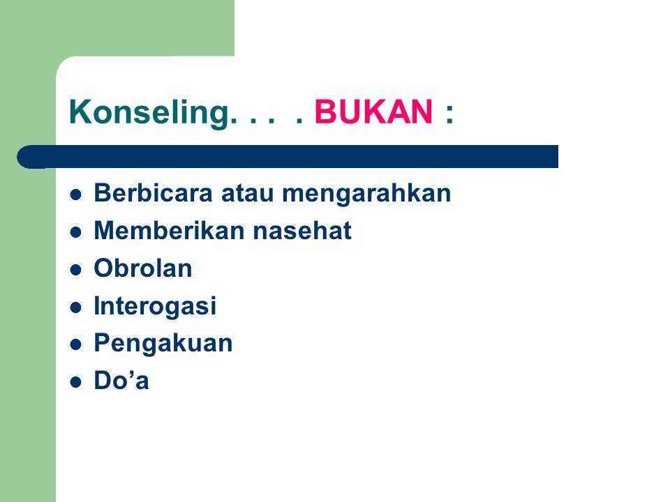 Konseling....