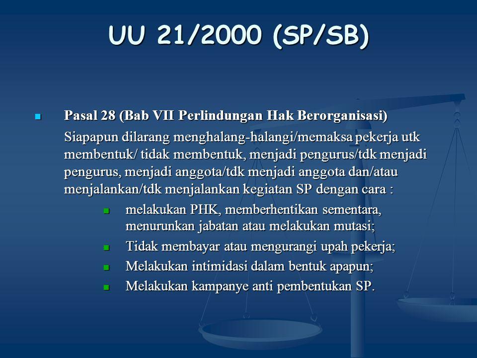 UU 21/2000 (SP/SB) Pasal 29 Pasal 29 1.