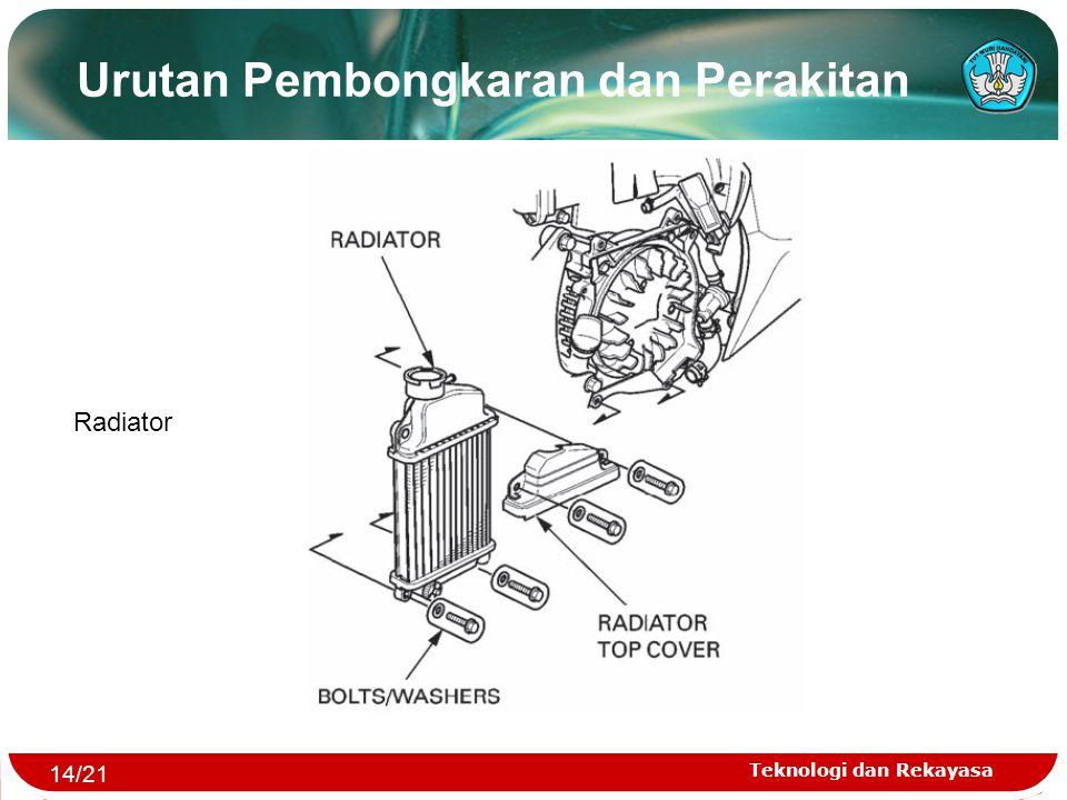 Teknologi dan Rekayasa Urutan Pembongkaran dan Perakitan Radiator 14/21
