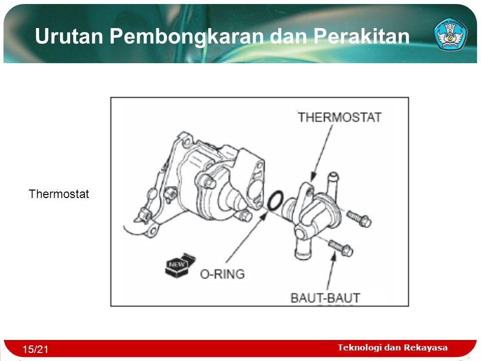 Teknologi dan Rekayasa Urutan Pembongkaran dan Perakitan Thermostat 15/21
