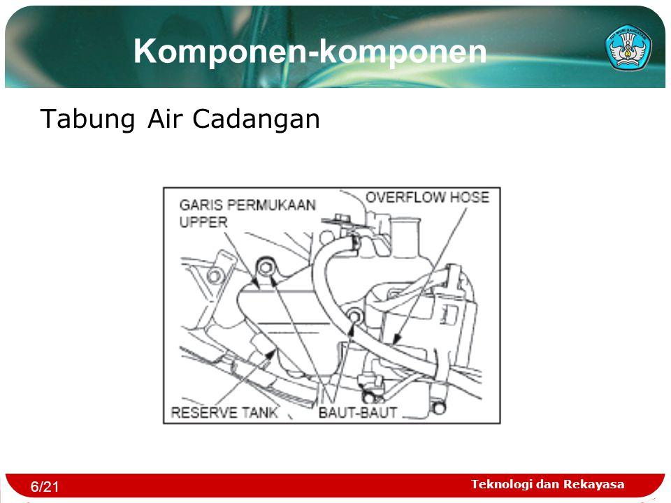 Teknologi dan Rekayasa Komponen-komponen Tabung Air Cadangan 6/21