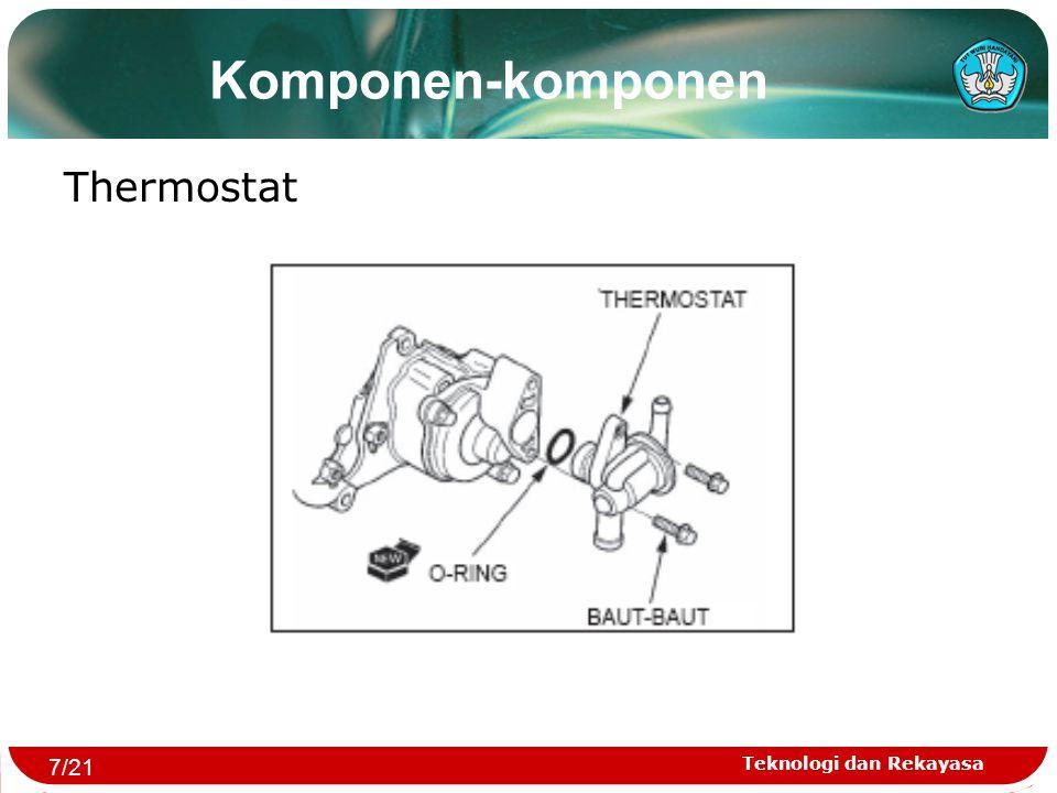 Teknologi dan Rekayasa Komponen-komponen Thermostat 7/21