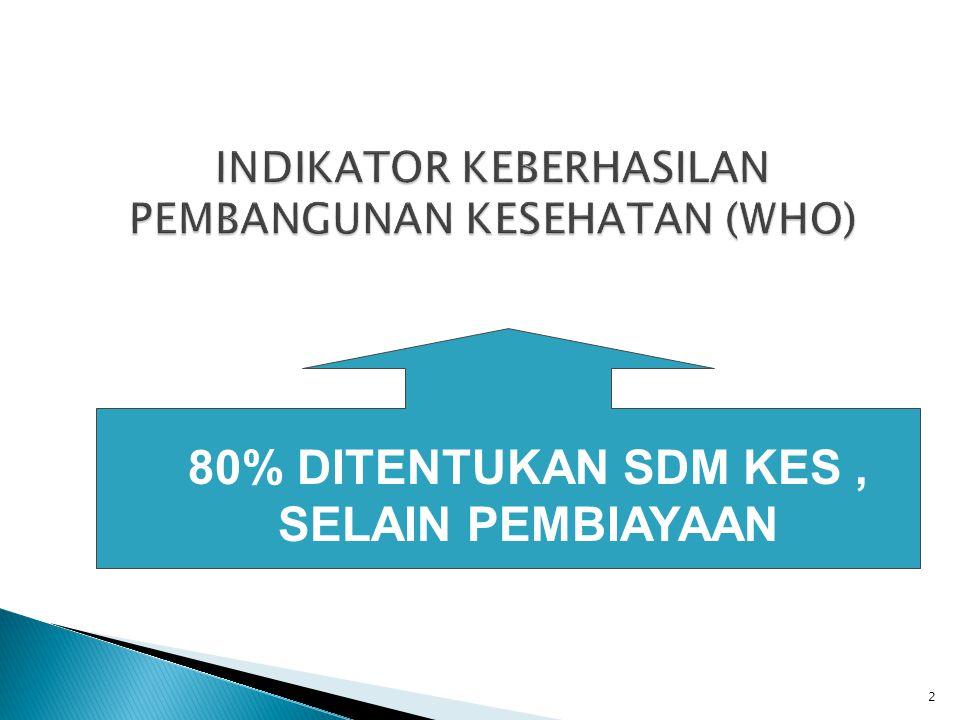 80% DITENTUKAN SDM KES, SELAIN PEMBIAYAAN 2