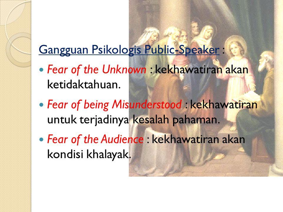 Alur Public Speaking : Canalizing Ideas : memilih pesan yang akan disampaikan.