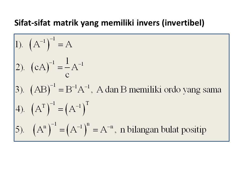 Pemakaian faktorisasi LU pada sistem persamaan linier.