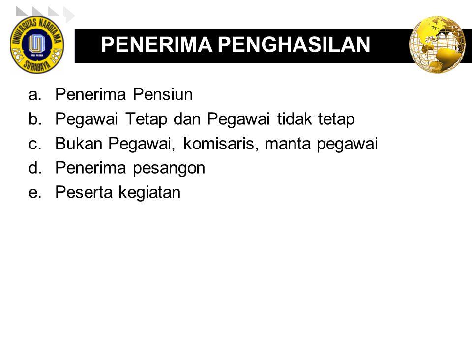 LOGO PENGHITUNGAN PPH 21 PEGAWAI TIDAK TETAP (HARIAN, BORONGAN) Budi (kawin) bekerja selama 15 hari dalam bulan Juni 2011.