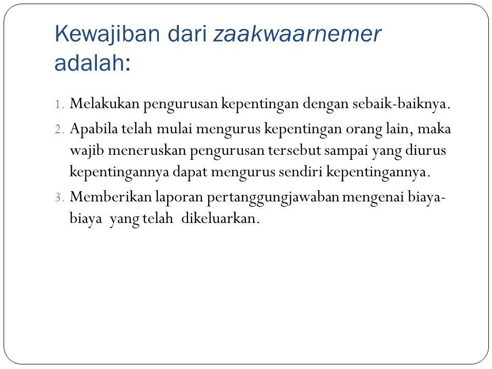 Hak Zaakwaarnemer: 1.