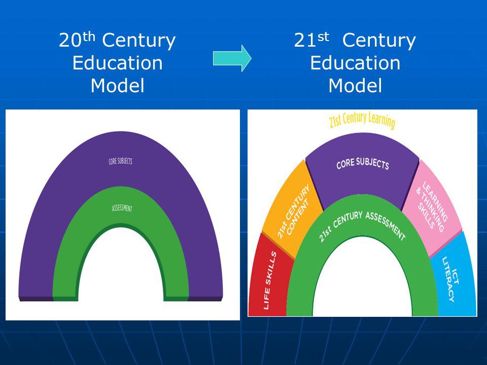 20 th Century Education Model 21 st Century Education Model