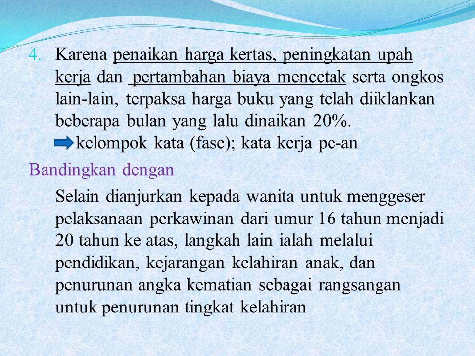 4. Karena penaikan harga kertas, peningkatan upah kerja dan pertambahan biaya mencetak serta ongkos lain-lain, terpaksa harga buku yang telah diiklank