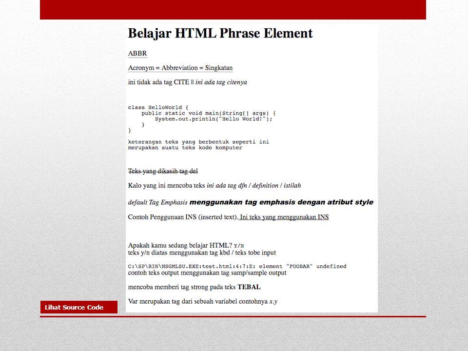 Lihat Source Code