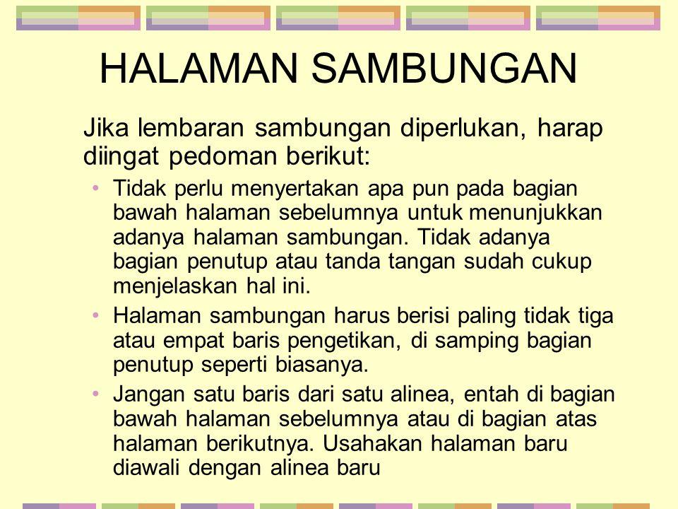 CONTOH HALAMAN SAMBUNGAN