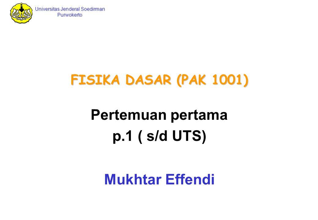 Universitas Jenderal Soedirman Purwokerto Fisika Dasar Mukhtar Effendi Fisika Dasar 12 Prefiks / awalan untuk satuan SI In 1960, an international committee established a set of standards for length, mass, and other basic quantities.