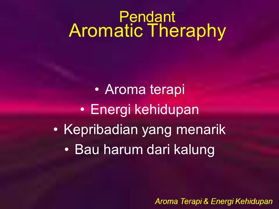 Aroma Terapi & Energi Kehidupan Pendant Aromatic Theraphy Aroma terapi Energi kehidupan Kepribadian yang menarik Bau harum dari kalung