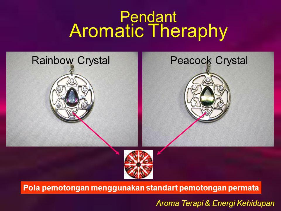 Rainbow CrystalPeacock Crystal Pola pemotongan menggunakan standart pemotongan permata Aroma Terapi & Energi Kehidupan Pendant Aromatic Theraphy