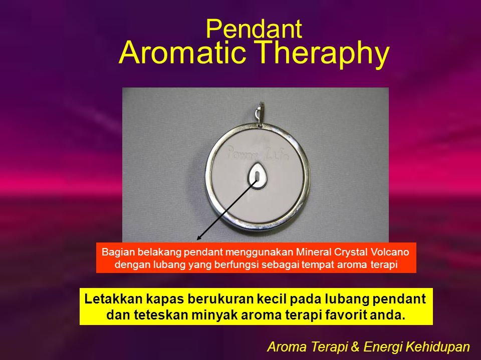 Bagian belakang pendant menggunakan Mineral Crystal Volcano dengan lubang yang berfungsi sebagai tempat aroma terapi Letakkan kapas berukuran kecil pada lubang pendant dan teteskan minyak aroma terapi favorit anda.