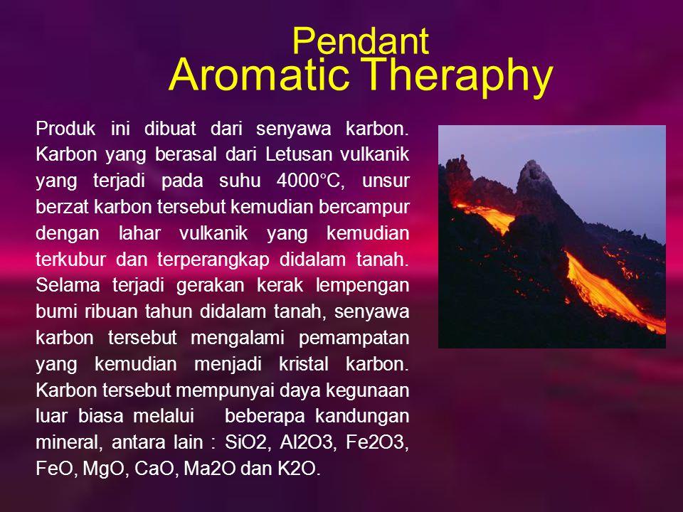Produk ini menggunakan mineral gunung berapi sebagai bahan mineral dengan menerapkan tehnologi nano, sinar Far Infra Merah yang sangat bermanfaat bagi kesehatan tubuh diolah dalam satu bentuk tablet (kalung).