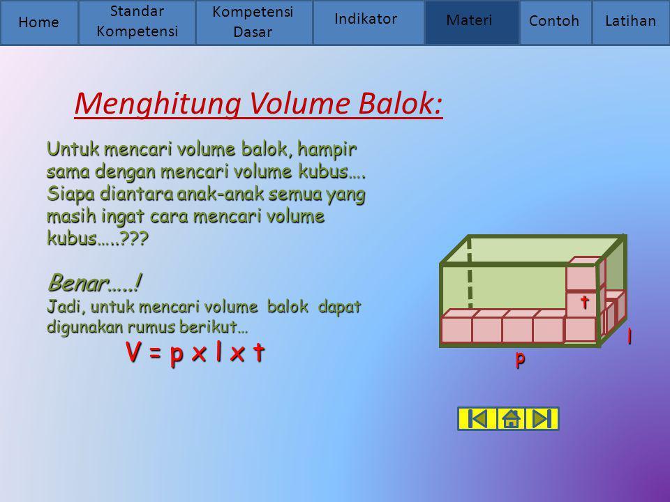 Untuk mencari volume balok, hampir sama dengan mencari volume kubus…. Siapa diantara anak-anak semua yang masih ingat cara mencari volume kubus…..???