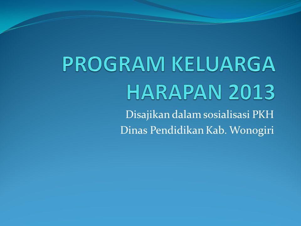 Materi 1.LATAR BELAKANG a. PKH dan Kemiskinan b. Pendidikan dalam PKH 2.