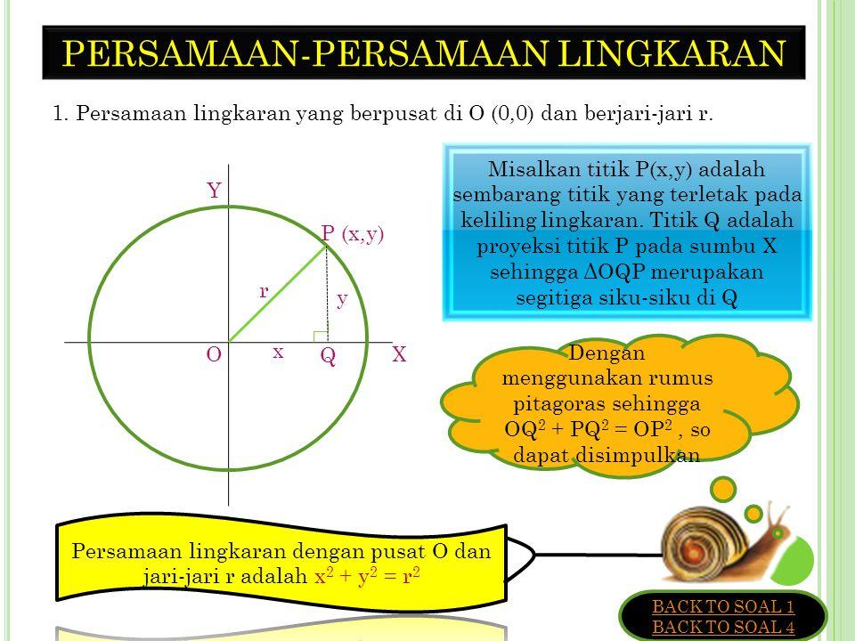 PENGERTIAN LINGKARAN Lingkaran adalah tempat kedudukan titik-titik yang berjarak sama terhadap sebuah titik tertentu yang terletak pada bidang datar.