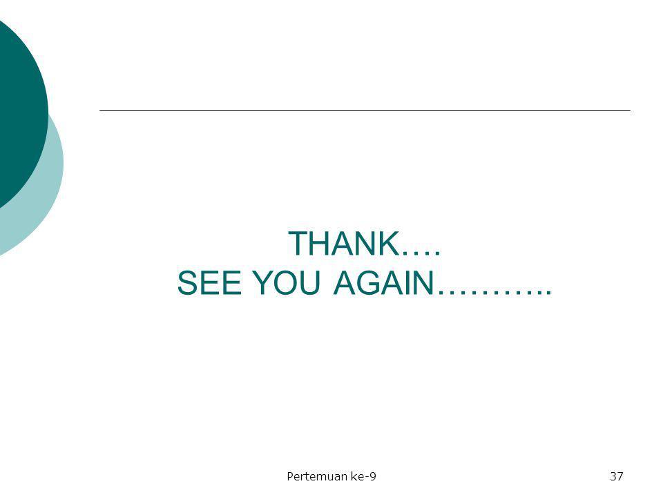 THANK…. SEE YOU AGAIN……….. Pertemuan ke-937