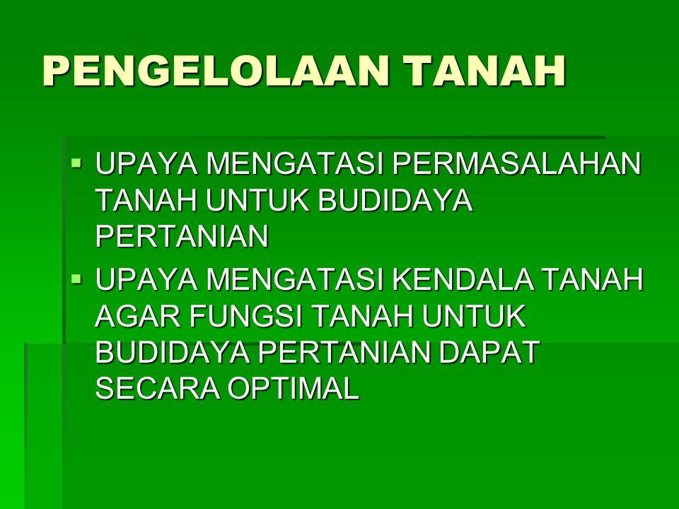 6 LANGKAH TENOLOGI MASUKAN RENDAH  UNTUK TANAH MASAM 1.