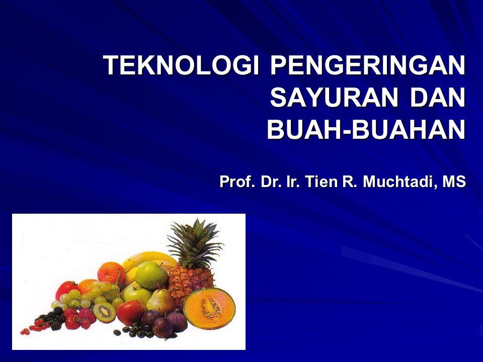 TEKNOLOGI PENGERINGAN SAYURAN DAN BUAH-BUAHAN Prof. Dr. Ir. Tien R. Muchtadi, MS