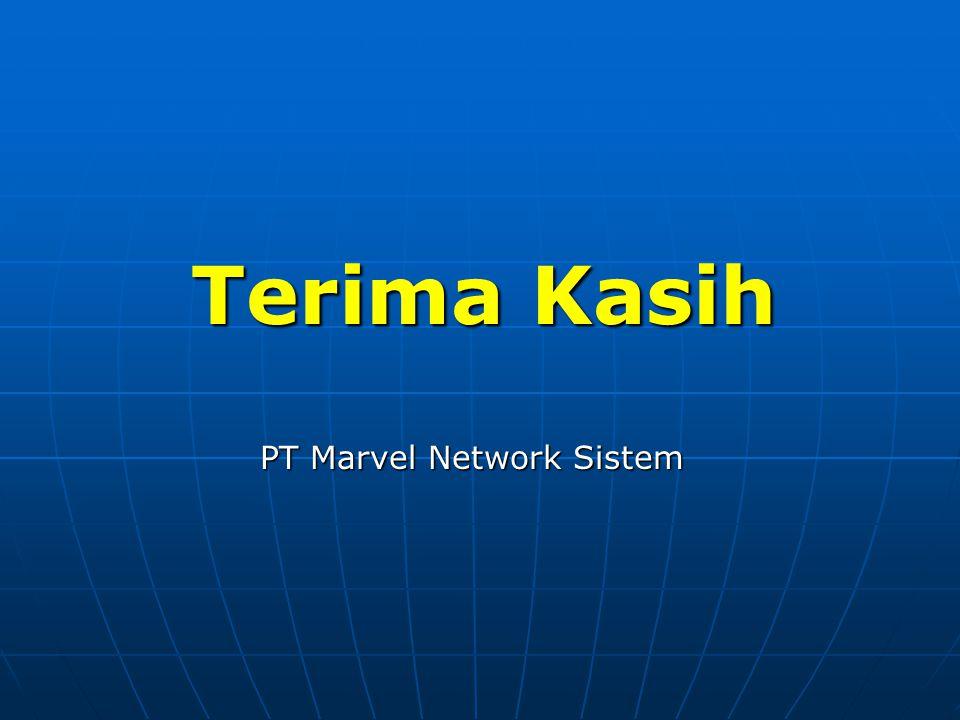 Terima Kasih PT Marvel Network Sistem