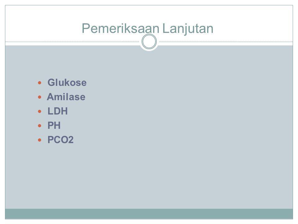 Pemeriksaan Lanjutan Glukose Amilase LDH PH PCO2