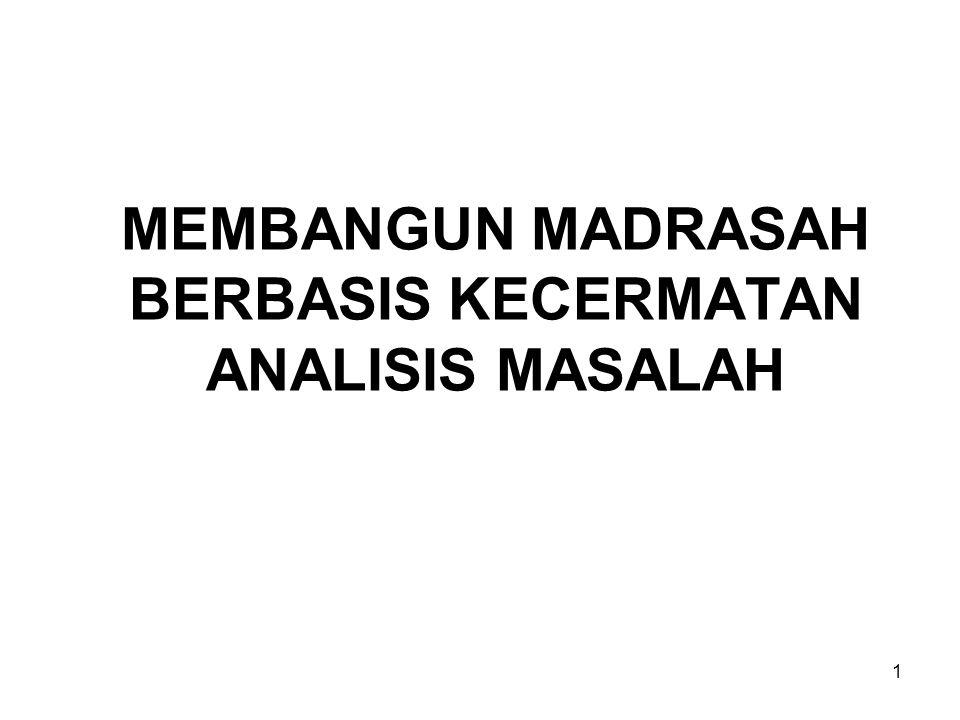 MEMBANGUN MADRASAH BERBASIS KECERMATAN ANALISIS MASALAH 1