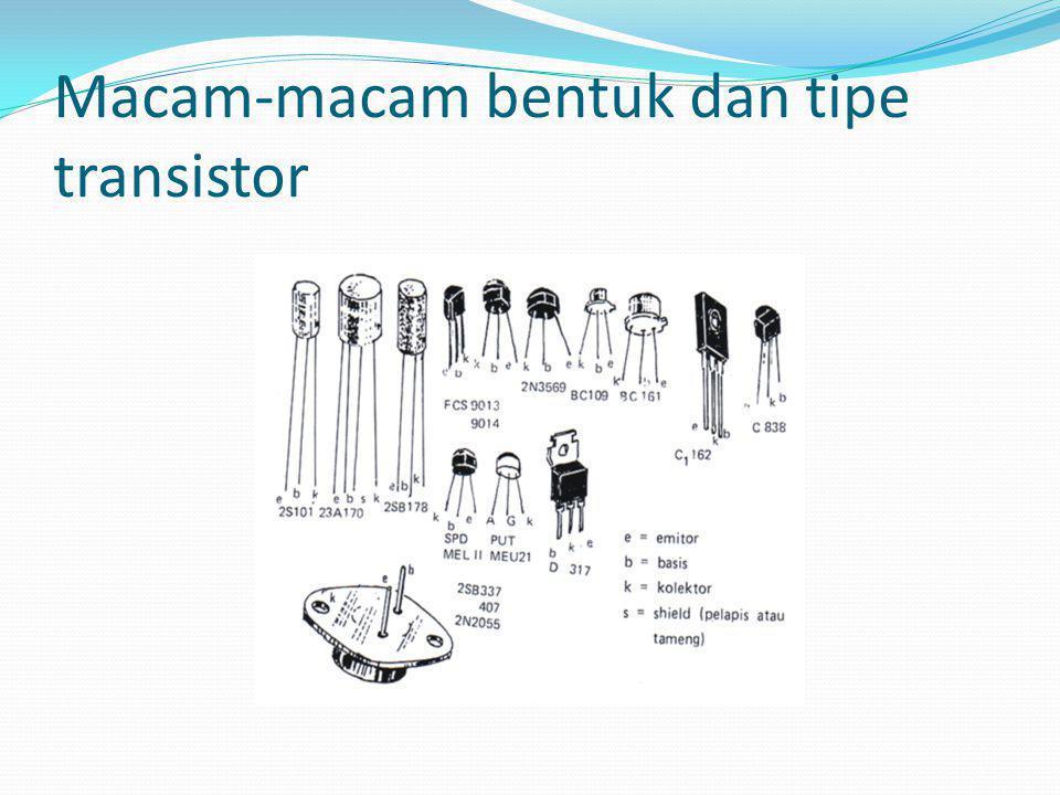 Persamaan tersebut mengatakan bahwa arus emiter adalah jumlah dari arus kolektor dan arus basis.
