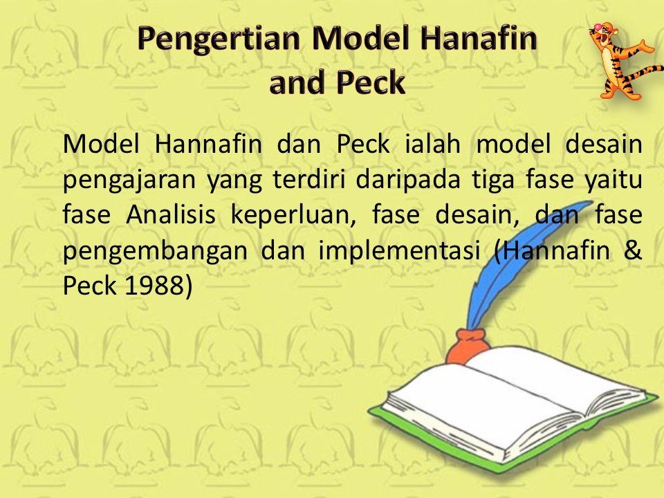Model Hannafin dan Peck ialah model desain pengajaran yang terdiri daripada tiga fase yaitu fase Analisis keperluan, fase desain, dan fase pengembangan dan implementasi (Hannafin & Peck 1988)