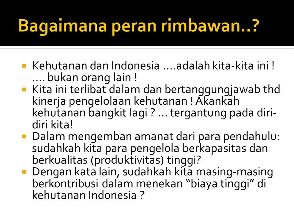  Kehutanan dan Indonesia....adalah kita-kita ini !....