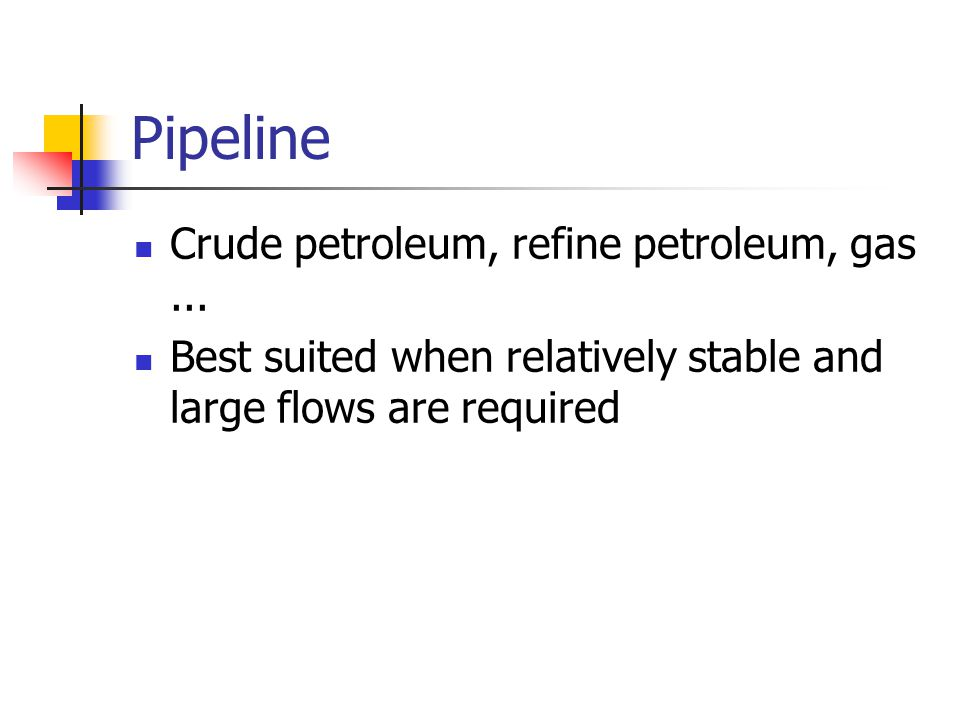 Pipeline Crude petroleum, refine petroleum, gas...