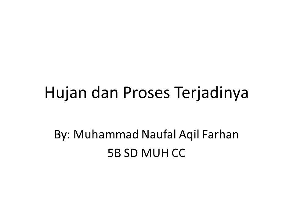Hujan dan Proses Terjadinya By: Muhammad Naufal Aqil Farhan 5B SD MUH CC