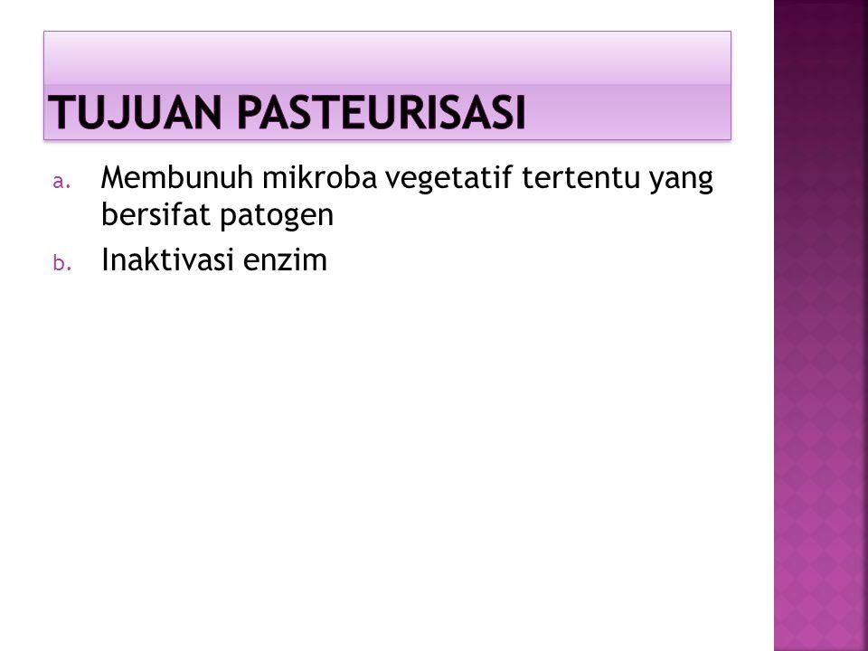 a. Membunuh mikroba vegetatif tertentu yang bersifat patogen b. Inaktivasi enzim