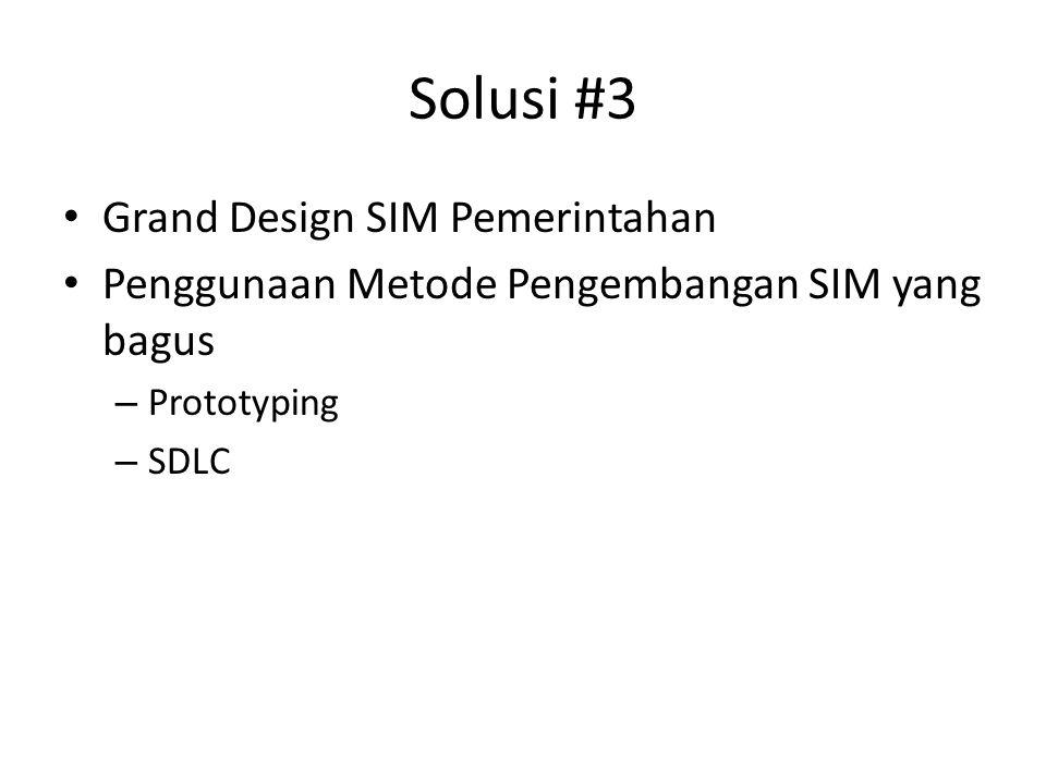Solusi #3 Grand Design SIM Pemerintahan Penggunaan Metode Pengembangan SIM yang bagus – Prototyping – SDLC