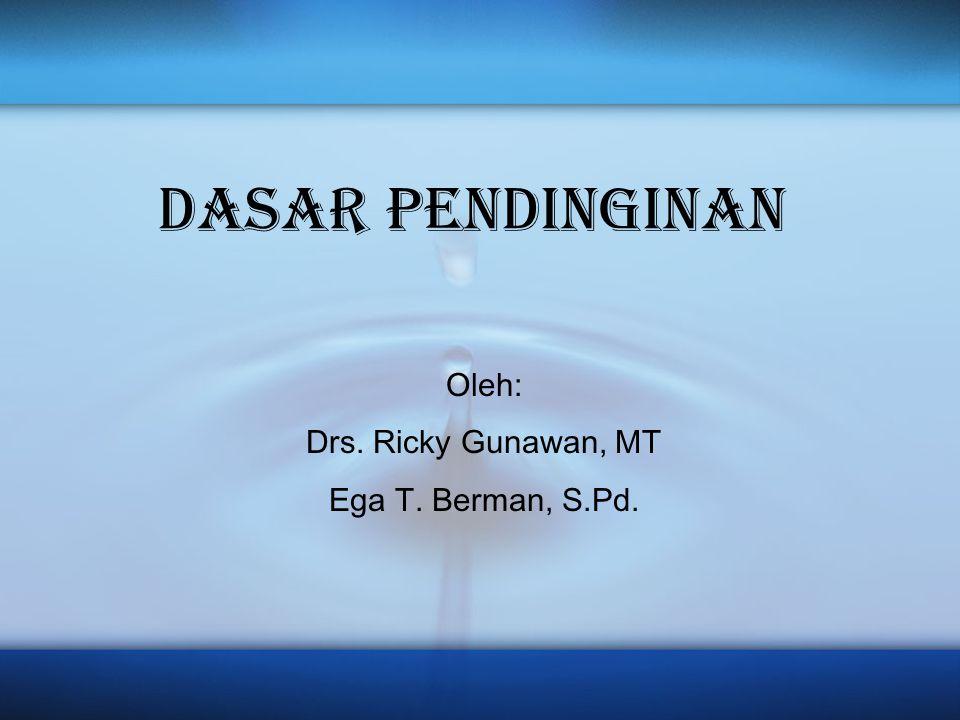 DASAR PENDINGINAN Oleh: Drs. Ricky Gunawan, MT Ega T. Berman, S.Pd.