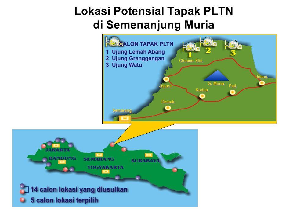 Lokasi Potensial Tapak PLTN di Semenanjung Muria Chosen Site Jepara Semarang Demak Kudus Pati Juana G. Muria