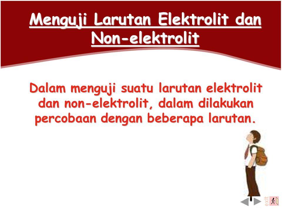 Perbandingan sifat-sifat larutan elektrolit dan larutan non elektrolit