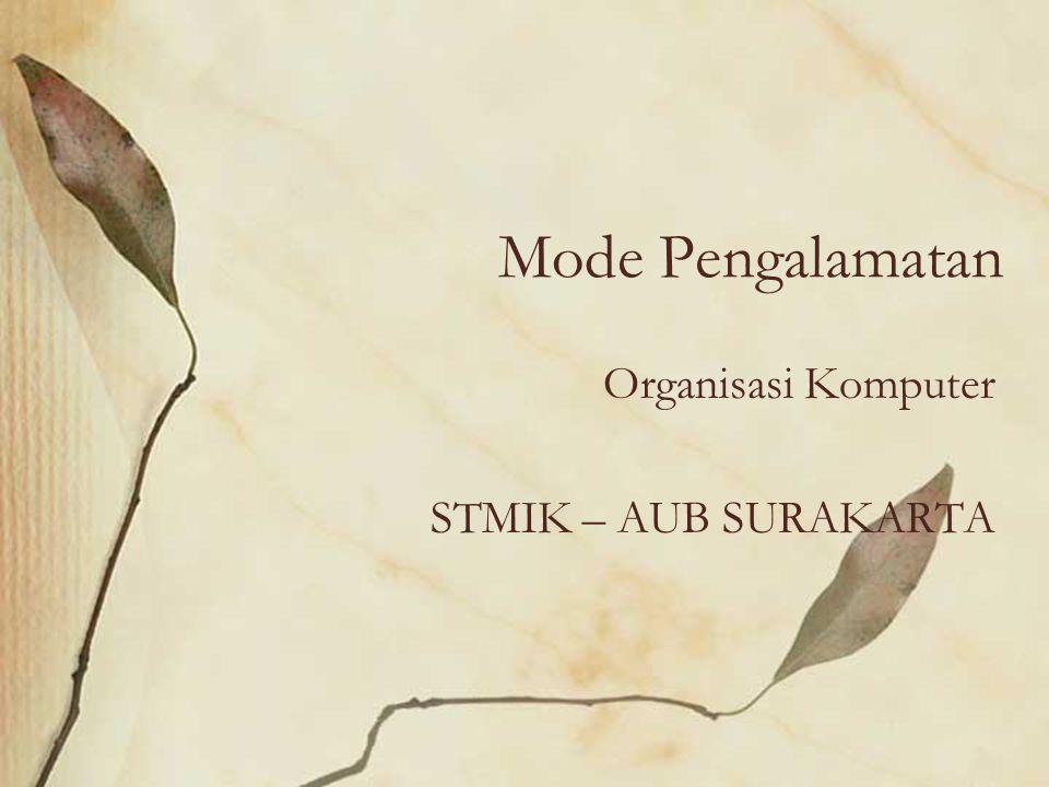 Mode Pengalamatan Organisasi Komputer STMIK – AUB SURAKARTA