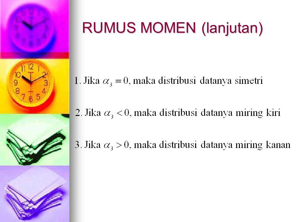 RUMUS MOMEN (lanjutan)